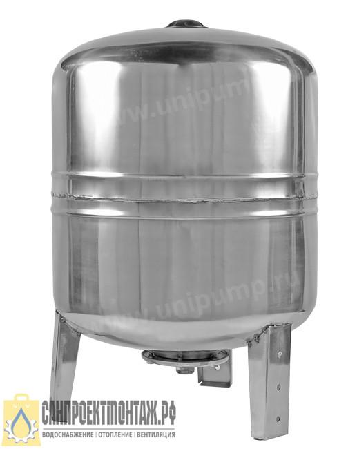 Гидроаккумулятор Unipump из нержавеющей стали 80 л (нерж.) вертикальный