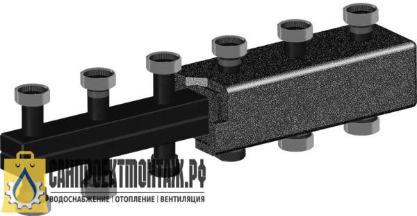 Коллектор стальной распределительный Meibes 2-3 отопительных контура