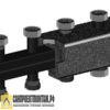 Коллектор стальной распределительный Meibes 3-5 отопительных контура