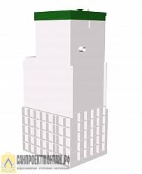 Септик ТОПОЛ-ЭКО ТОПАС 8 long Ус Пр автономная канализация для дома