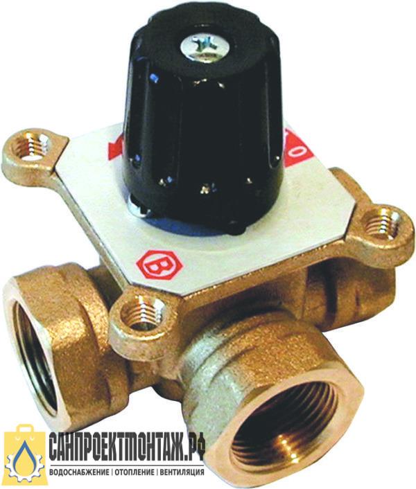 """STOUT 3-х ходовой смесительный клапан 1"""" KVs 8 м3/ч"""