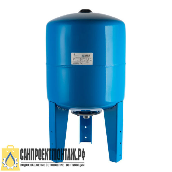 STOUT Расширительный бак, гидроаккумулятор 300 л. вертикальный (цвет синий)