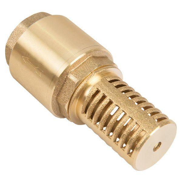 """Обратный клапан: Unipump 1 1/4"""" с сеткой (сетка-латунь, толк.-латунь)"""