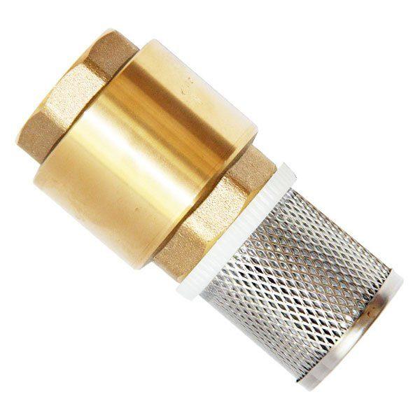 """Обратный клапан: Unipump 1"""" с сеткой (сетка-нерж.сталь, толк.-пластик)"""