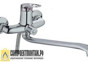 Смеситель Смесситель для ванны Frap H37 F2237 дл.S- 40см нос перек.на корп.35
