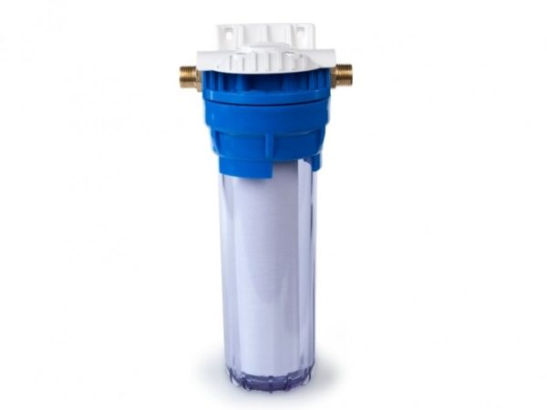 Магистральный фильтр для очистки воды: Гейзер 1П 1/2 прозрачный