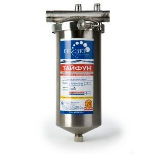 Магистральный фильтр для очистки воды: Гейзер Тайфун 10SL 1/2