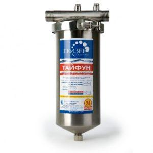 Магистральный фильтр для очистки воды: Гейзер Тайфун 10SL 3/4