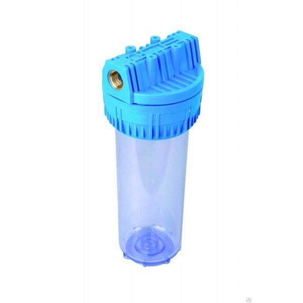 """Корпус Aqua 10 x 1"""" прозрачный для холодной воды"""