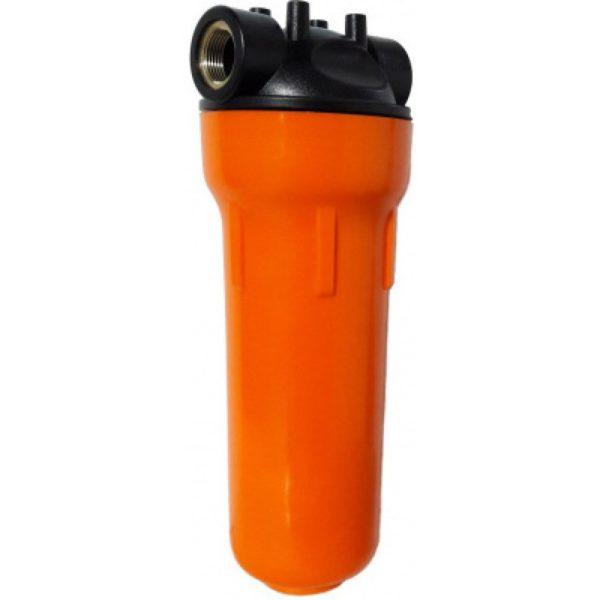 """Корпус Гидротек 10SL 3/4"""" оранж., для горячей воды (латунные вставки)"""