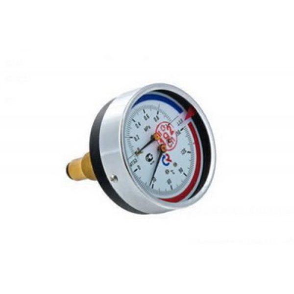 """Термоманометр ТМТБ-31T Dy 80 с задним подключением 1/2"""", 6 бар 0-150*"""