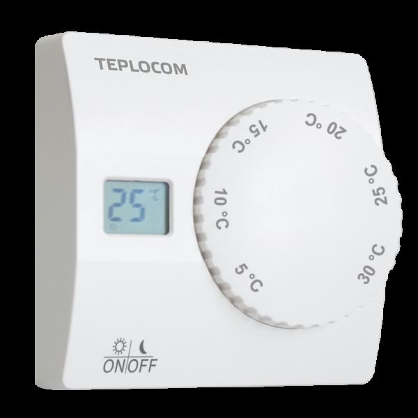 Термостат комнатный Бастион Teplocom TS-2AA/8A, проводной, реле 250В, 8А