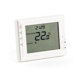 Термостат комнатный Бастион Teplocom TS-Prog-2AA/8A, проводной, прогр., реле 250В, 8А