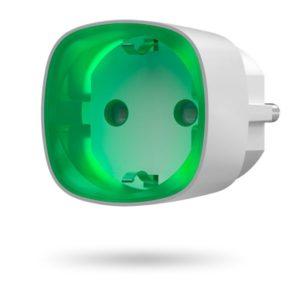 Ajax Socket (white)        :Радиоуправляемая умная розетка со счетчиком энергопотребления
