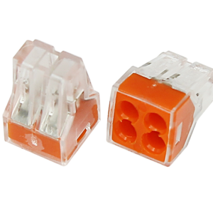 Экcпресс-клемма, 4-проводная до 2,5 мм², прозрачная 773-324 REXANT (07-3240)        :Клеммник для провода