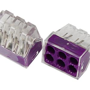 Экcпресс-клемма, 6-проводная до 2,5 мм², прозрачная 773-326 REXANT (07-3260)        :Клеммник для провода