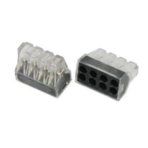 Экcпресс-клемма, 8-проводная до 2,5 мм², прозрачная 773-328 REXANT (07-3280)        :Клеммник для провода