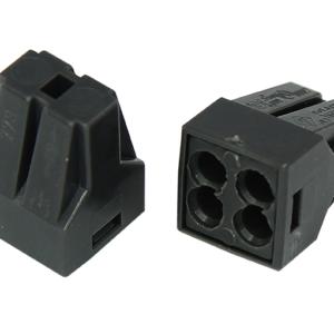 Экспресс-клемма с пастой, 4-проводная до 2,5 мм², серая 773-304 REXANT (07-3040)        :Клеммник для провода