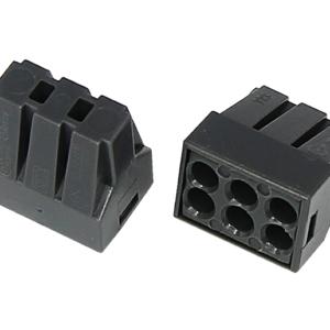 Экспресс-клемма с пастой, 6-проводная до 2,5 мм², серая 773-306 REXANT (07-3060)        :Клеммник для провода