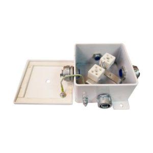 КМ-О (8к*6,0)-IP66-120х120, пять вводов        :Коробка монтажная огнестойкая