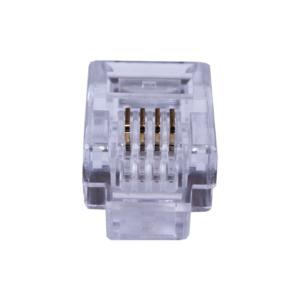 Коннекторы 4P4C (RJ-11) (100шт) (10-0229)        :Телефонный разъем 4P4C (RJ-11)