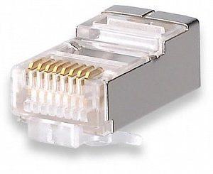 Коннекторы 8P8C FTP Cat.5e 3U (RJ-45) (100шт) (10-0201)        :Разъем RJ-45