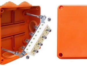 Коробка JBS150 восьмиполюсная (1,5…6 мм²) 150х110х70 (43229HF)        :Коробка монтажная огнестойкая без галогена