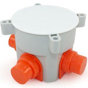 Коробка установочная 80-0530 для заливки бетоном безгалогенная (HF) 70×72        :Коробка установочная