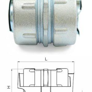 Муфта соединительная для металлорукава МСМ-25 (zeta40812)        :Муфта соединительная для металлорукава