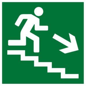 Плёнка (Е-13) направление к эвакуационному выходу по лестнице вниз        :Пленка