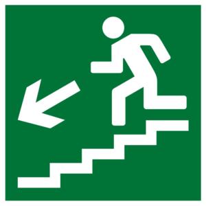 Плёнка (Е-14) направление к эвакуационному выходу по лестнице вниз (налево) (200х200)        :Пленка