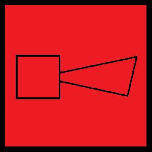 Плёнка (F-11) Звуковой оповещатель пожарной тревоги (200х200)        :Пленка