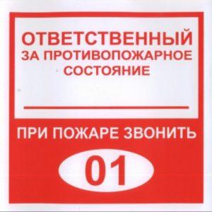 Плёнка (В 02) ответственный за противопожарное состояние (200х200)        :Пленка