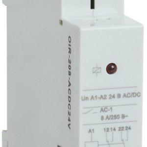 Реле OIR 2 контакта, 8А, 24 В AC/DC (OIR-208-ACDC24V)        :Реле промежуточное