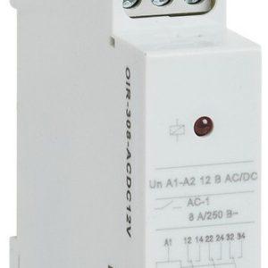 Реле OIR 3 контакта, 8А, 12 В AC/DC (OIR-308-ACDC12V)        :Реле промежуточное