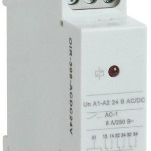 Реле OIR 3 контакта, 8А, 24 В AC/DC (OIR-308-ACDC24V)        :Реле промежуточное