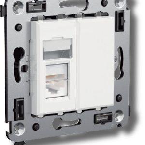 Розетка телефонная в стену Avanti одинарная белое облако (4400313)        :Розетка