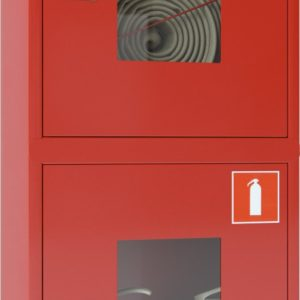 Ш-ПК-О-003НОК (ПК-320НОК) лев.        :Шкаф пожарный навесной со стеклом красный