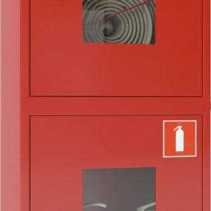 Ш-ПК-О-003НОК (ПК-320НОК)        :Шкаф пожарный навесной со стеклом красный
