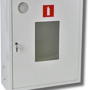 Ш-ПО-113НОБ        :Шкаф пожарный навесной со стеклом белый