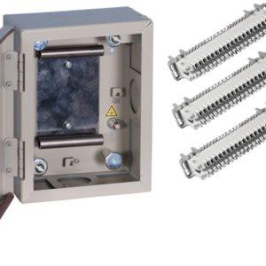 ШРН-1М-2/30 в комплекте с размыкаемыми плинтами        :Шкаф распределительный настенный металлический с замком для 30 пар, в комплекте с размыкаемыми плинтами