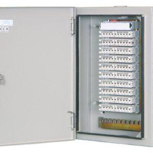 ШРН-2/100 в комплекте с размыкаемыми плинтами        :Шкаф распределительный настенный металлический с замком для 100 пар, в комплекте с размыкаемыми плинтами