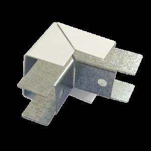 Соединитель ККМО Угол 25 Y-образный внешний металлический        :Угол Y-образный внешний для кабель-канала