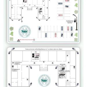Типовое решение: ТСН-015        :Система видеонаблюдения для офисного здания с контролем за прилежащей территорией, парковкой и въездными/выездными воротами