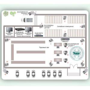 Типовое решение: ТСН-017        :Система видеонаблюдения для торгового центра с контролем за зонами входа/выхода, разгрузкой/погрузкой и прилегающей парковкой