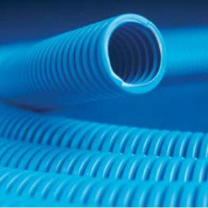 Труба ППЛ легкая, синяя D=40 (11940)        :Труба ППЛ гибкая гофрированная лёгкая, с протяжкой