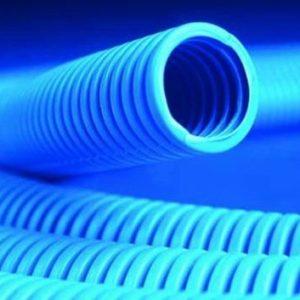 Труба ППЛ тяжелая, синяя D=32 (11532)        :Труба ППЛ гибкая гофрированная тяжелая, с протяжкой