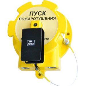 """УДП-Спектрон-535-Exd-М-01 """"Пуск пожаротушения"""" (цвет корпуса желтый)        :Устройство дистанционного пуска взрывозащищенное"""