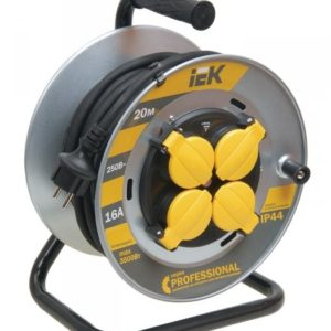 """УК50 4 места, 50м (WKP16-16-04-50-44)        :Удлинитель на металлической катушке """"Professional"""""""