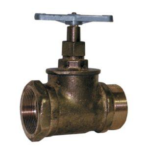Вентиль КПЛП50-1 (муфта-цапка)        :Вентиль латунный